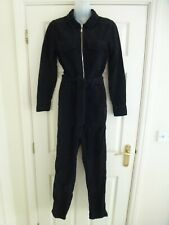 TOP SHOP Ladies Corduroy All-In-One Jumpsuit In Black Size UK 6/US 2