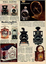 1968 ADVERT Mastercrafters Girl On A swinf Cottage Fireplace Clock Locomotive