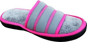 ISOTONER Women's Terry Jersey Selena Slide Slippers | Indoor or Outdoor Memor...