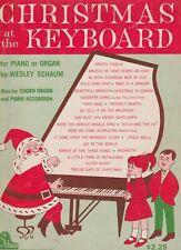 Christmas at the Key Board Piano Organ Chord Organ Piano Sheet Music Schaum 1965