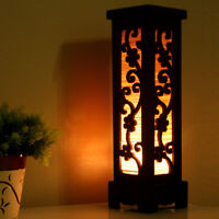 Wooden Electric Lantern Lights Table Lamp for Bedroom Living Room Cherry Blossom