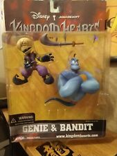 Kingdom Hearts Series 2 2002 GENIE & BANDIT Action Figure Mirage, New and Sealed