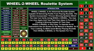 WHEEL-2-WHEEL Professional Roulette System With 7 Winning Systems