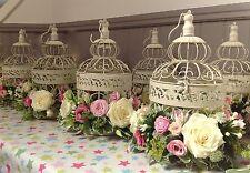 12 NEW CREAM WEDDING BIRD CAGES WEDDING CENTREPIECES VINTAGE CREAM BIRDCAGE