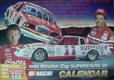1986 WINSTON CUP CALENDAR (/WALRIP/ELLIOTT/EARNHARDT/PETTY/YARBOROUGH/BONNETT +
