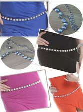 New Belly Dance Costume Jewelry Crystal Rhinestones Belt Accessory ONE