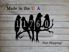 Birds on a Limb 5  Number Address Plaque, Love Bird Decor - HN1104
