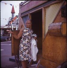 Black/African-American Tourist Lady With Instamatic Camera Vtg 1972 Slide Photo