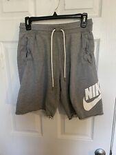 Nike Mens Fleece Logo Shorts Grey