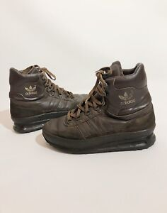 Adidas Men's Vintage Brown Leather 80s Tactical Super Trekking Hiking Boots