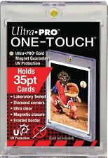 3 ULTRA PRO 35pt One Touch Magnetic Holders UV Gold Magnet New 35 pt point