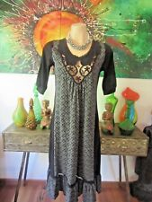 Metalicus Dress Black & Grey With Cotton Crochet Detail Sizes 8/14