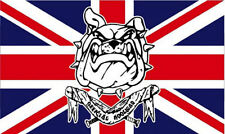 BRITISH BULLDOG FLAG 5' x 3' Union Jack Anti Europe No Euro EU Official Hooligan
