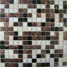 SHEETS OF 225 GLASS MOSAIC WALL OR FLOOR TILES - REGAL MIX