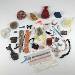 Vintage Barbie Best Buy Fashions Mod Accessories Lot 1960s -1970s Hats Shoes