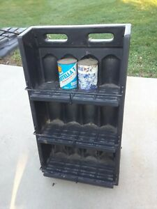 PORTABLE OIL CAN DISPLAY RACK