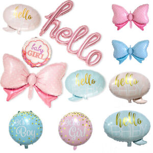 Pink Blue Hello Baby Foil Balloon Baby Shower Boy & Girl Birthday Party Decor