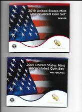 US Mint 2019 Uncirculated Coin Set Philadelphia + Denver Mints Lot#c16