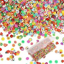 3D Fruit Nail Slices Polymer Clay Slime Slices for DIY Crafts Supplies,4000PCS