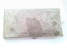 Antik WWII Britisch Empire Zigarette Schutzhülle Kolonialer Indien Karte Alt