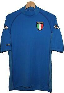 2002 ITALY Football Shirt Jersey KAPPA GAVA sz L Tricot Maglia Camiseta AZZURRI
