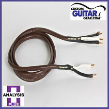 Analysis Plus Chocolate Theater 4-Wire Cable, Bi-Wire Configuration, Length 12ft