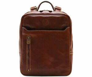 Cenzo Italian Leather Backpack Knapsack