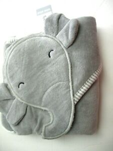 Carter's Baby Elephant Hooded Towel NWT Infant Gray