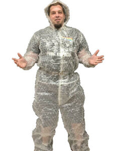 NEW Funny Bubble Boy Wrap Suit Adult MENS Sizes 2XL-2XLT-Tall Halloween Costume
