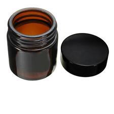Amber Glass Cosmetic Jar Cream Makeup Container Medicine Holder Inner Liner 50G