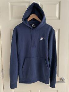 Nike Men's Navy Blue Zip Up Jersey Hoody Top, M