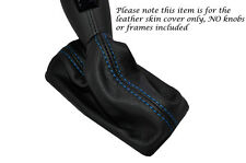 Blue Stitch Leather Pelle Auto Automatico GEAR GAITER si adatta a FIAT CROMA 2005-2010