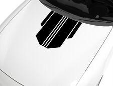 Aufkleber für Motorhaube Rennstreifen Schwarz 57x48 cm Sport Tuning Sticker 254