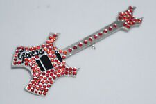 GUESS Collectible Fashion Guitar Pin (RED) - Vintage : Circa early 2000's