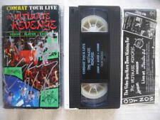 ULTIMATE REVENGE 1 Slayer EXODUS Venom VHS PAL Combat Tour Live Autographed