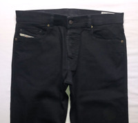 Mens DIESEL Tepphar Jeans W32 L30 Black Slim Carrot Wash 0886Z_STRETCH