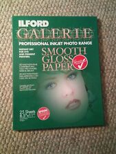 043 ILFORD Galerie Professional Inkjet 8.5x11 19 Sheets Smooth Glossy