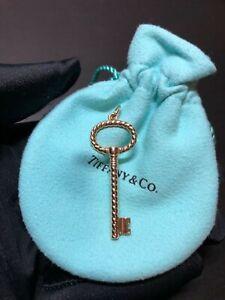 Authentic Tiffany & Co 18K Rose gold Twist Oval key