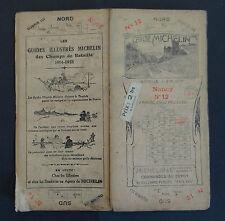 Carte MICHELIN old map NANCY METZ circa 1920 Bibendum pneu tyre