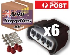 Coil Plug Connector Set of 6 suits Toyota Coil Pack Yaris Corolla Echo 3SGE
