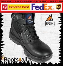 Mongrel Mens Work Boots Runner ZIP Safety Steel Toe Blk 261020 FREE Express Post