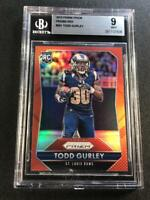 TODD GURLEY 2015 PANINI PRIZM #291 RED REFRACTOR ROOKIE RC MINT BGS 9 NFL