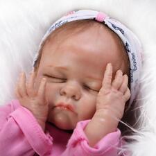 "21"" SOFT SOLID silicone Reborn Girl Baby Realistic Newborn Lifelike Baby Dolls"
