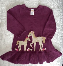 Gymboree Plum Pony Horse Sweater Dress Applique Embroidered Aize 18-24 Months