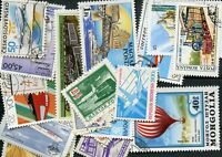 Transport Trains Aviation Collection of 25 Different Stamps Timbres Briefmarken