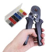 800-1800pcs Wire Ferrule Terminal Connector Kit Crimper Crimping Plier Tool Set
