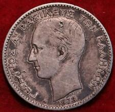 1873 Greece Drachma Silver Foreign Coin