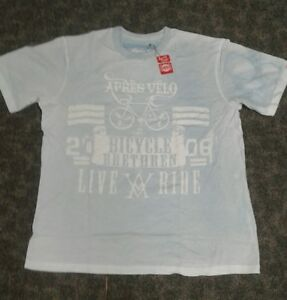 Mens XL  Crew neck T shirt with graphics front and rear.