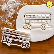 Bus cookie cutter | vehicle birthday party back to school double decker wedding