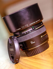Canon EF 50mm F1.4 USM Prime Lens : Sold with Canon Hood + Front &Rear lens Caps